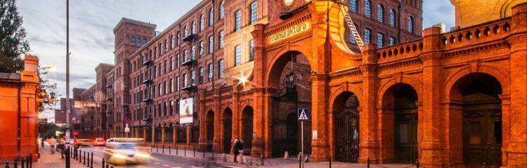 Manufaktura Łódź ozmierzchu
