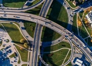 widok autostrady zgóry