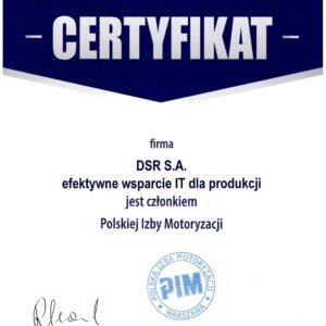 certyfikat PIM