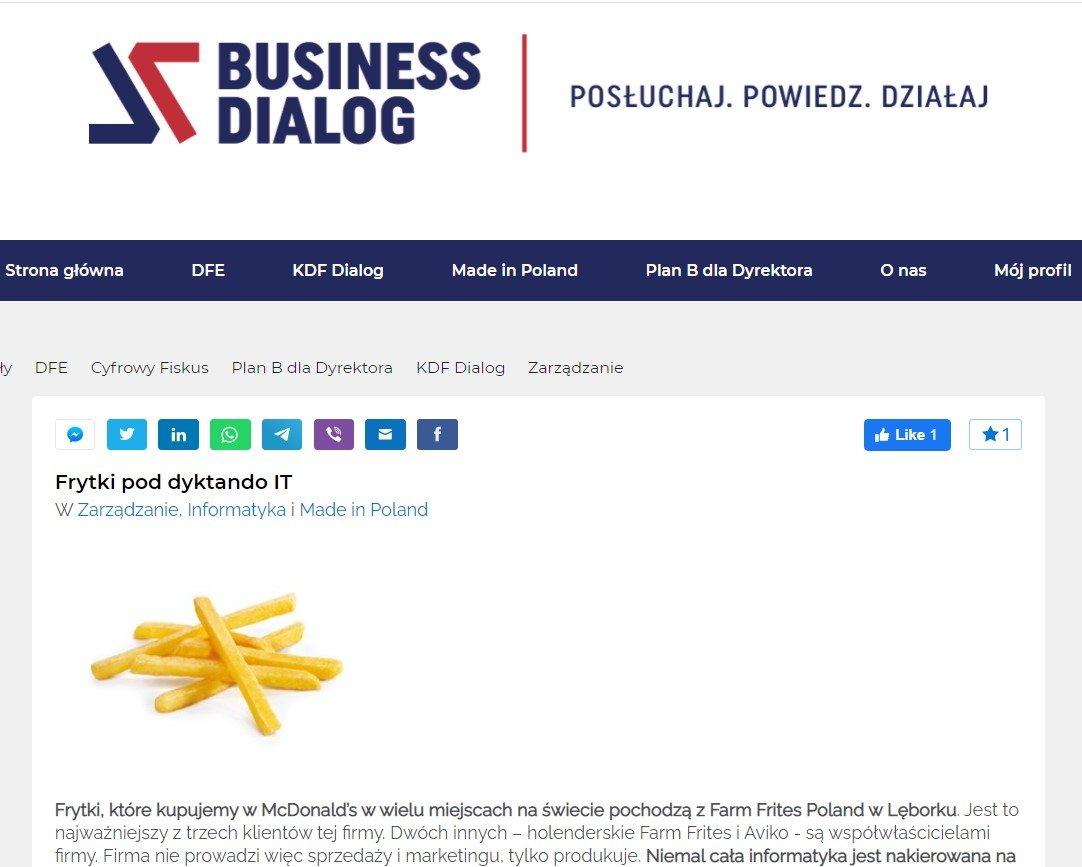 Źródło: Business Dialog